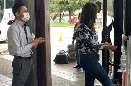Protocolo en terminal de transporte de Bogotá