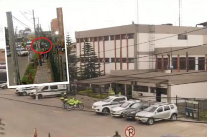Balacera frente a estación de Policía de Fontibón