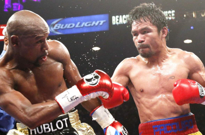 Manny Pacquiao cuando enfrentó a Floyd Mayweather
