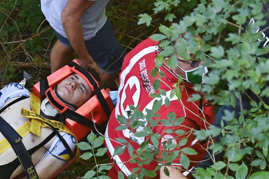 Rescate de Remco Evenepoel / AFP