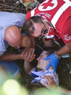 Caída y rescate de Remco Evenepoel en Giro de Lombardía