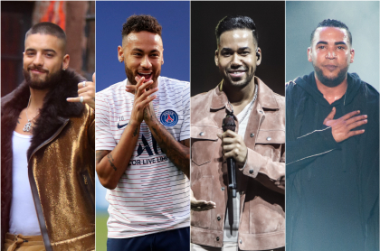 Maluma, Neymar, Romeo Santos y Don Omar