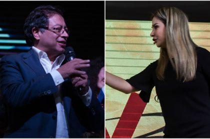 Gustavo Petro no quiso responderle directamente a Vicky Dávila si entregará el poder de llegar a la presidencia luego de las elecciones de 2022.