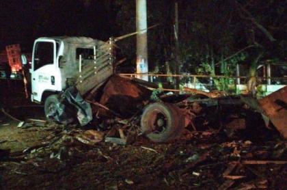 Camión bomba en Tibú, Norte de Santander