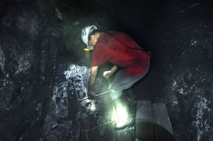 Minero en Coscuez, Muzo, Boyacá
