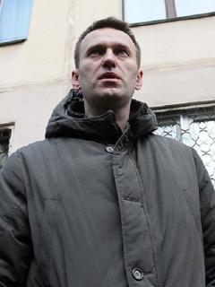Alexei Navalny, opositor ruso, durante una manifestación.