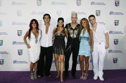 Dulce María, Alfonso Herrera, Maite Perroni, Christian Chávez, Anahí y Christopher Von Uckermann, de RBD