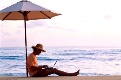 Sitios paradisiacos donde puede seguir con su trabajo a distancia.