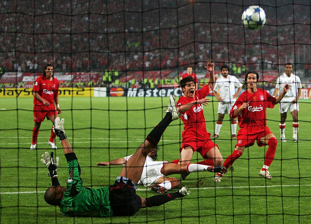 Final de Champions League entre el Liverpool y el Milan, en 2005.
