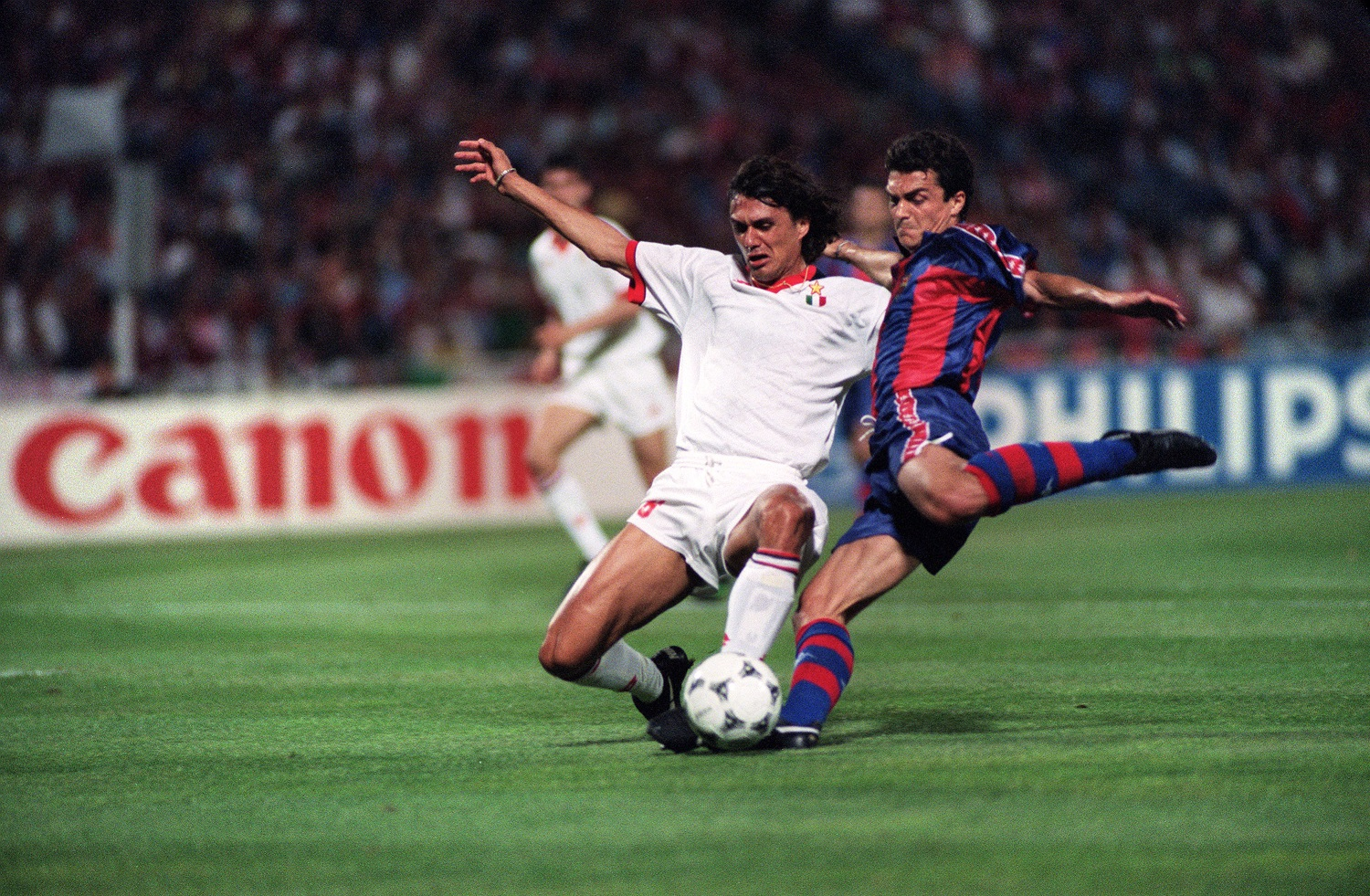Final de Champions League entre el Milan y el Barcelona, en 1994.