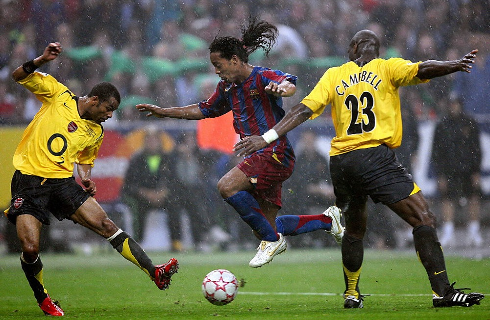 Final de Champions League entre el Barcelona y el Arsenal, en 2006.