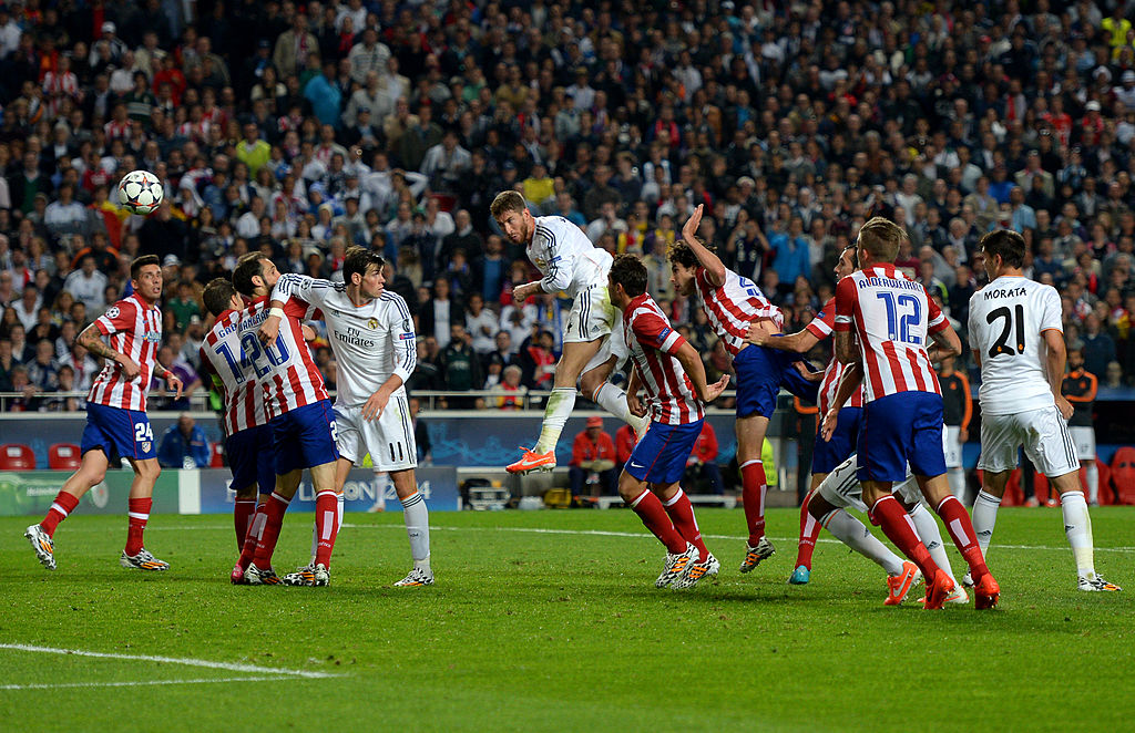 Final de Champions League entre el Real Madrid y el Atlético de Madrid, en 2014.