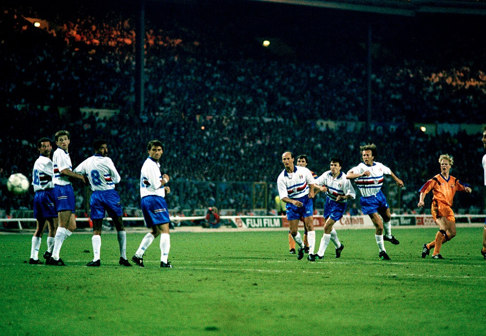 Final de Champions League entre el Barcelona y la Sampdoria, en 1992.