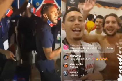 PSG y Sevilla, cantando 'Par tusa'