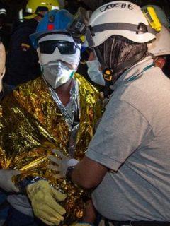 Minero rescatado en mina de Lenguazaque, Cundinamarca.