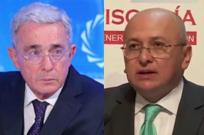 Álvaro Uribe y Eduardo Montealegre