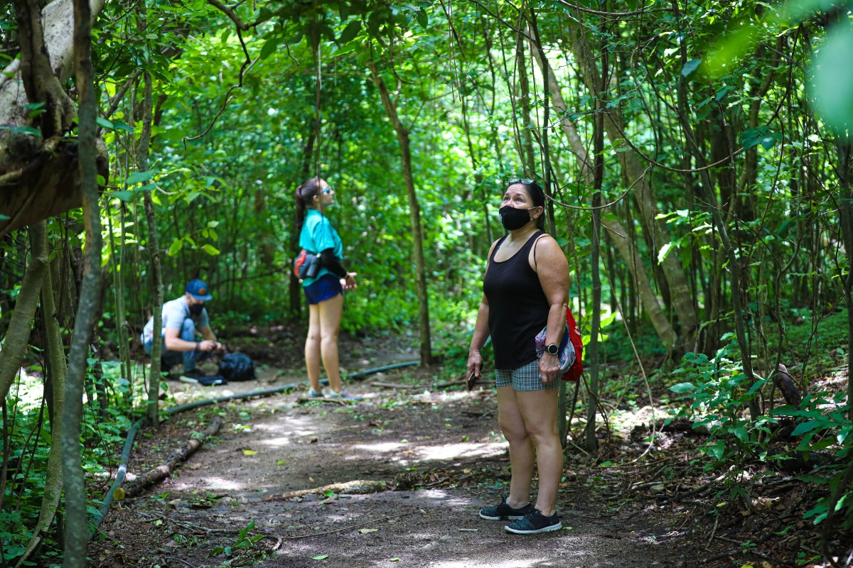 Visitantes caminando por Isla San Lucas