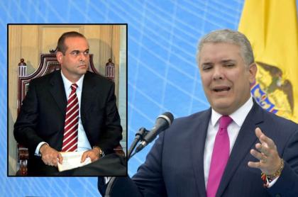 Macuso (en el Congreso) y Duque (en evento en Bogotá) por error en extradición de Mancuso a Colombia