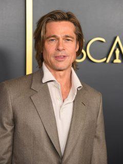 Foto de Brad Pitt, quien salió públicamente con su nueva novia