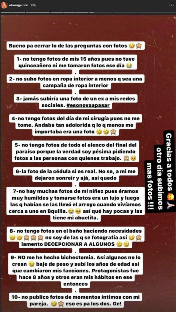 Instagram @elianisgarrido