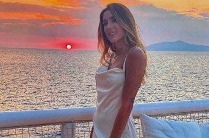 Daniela Ospina, que respondió si está embarazada de Harold Jiménez, en sus vacaciones 2020.
