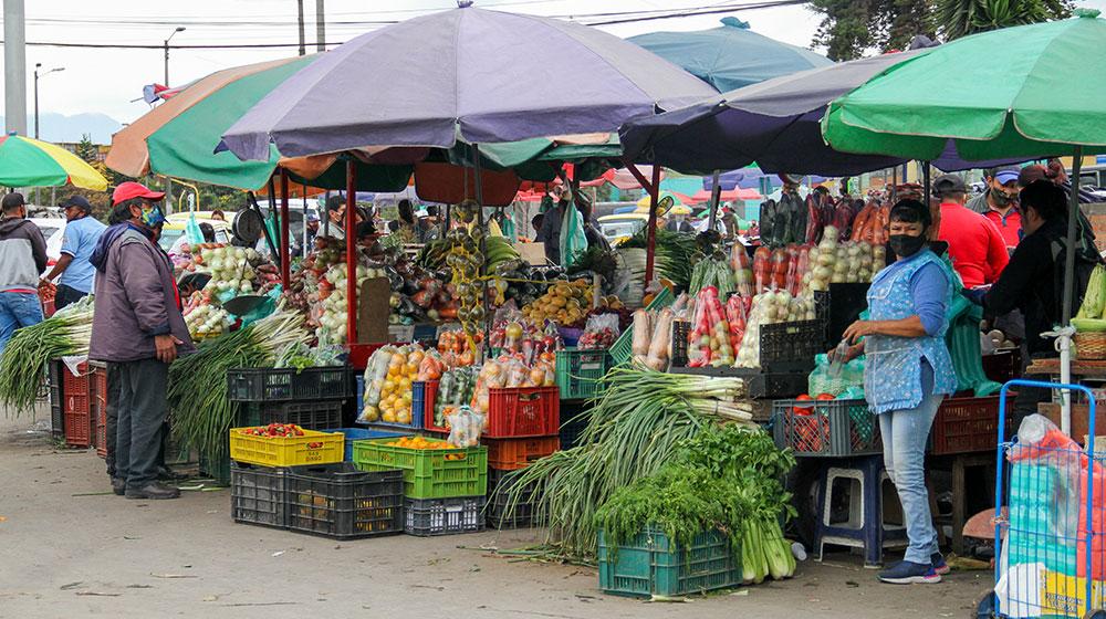 En el sector de Corabastos las diferentes carretas con productos volvieron a situarse en las calles.