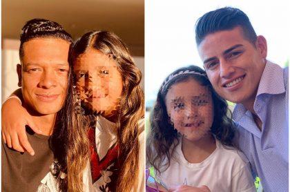 Fredy y Danna Guarín, Salomé y James Rodríguez, a propósito de la popular de las hijas de los futbolistas en TikTok