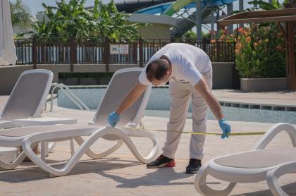 Distanciamiento en hoteles según protocolo para turismo durante la pandemia de COVID-19