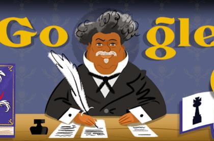 """Doodle de Alejandro Dumas por el aniversario de la primera publicación de """"El conde de Montecristo"""""""