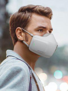 Mascarilla LG PuriCare, que purifica el aire