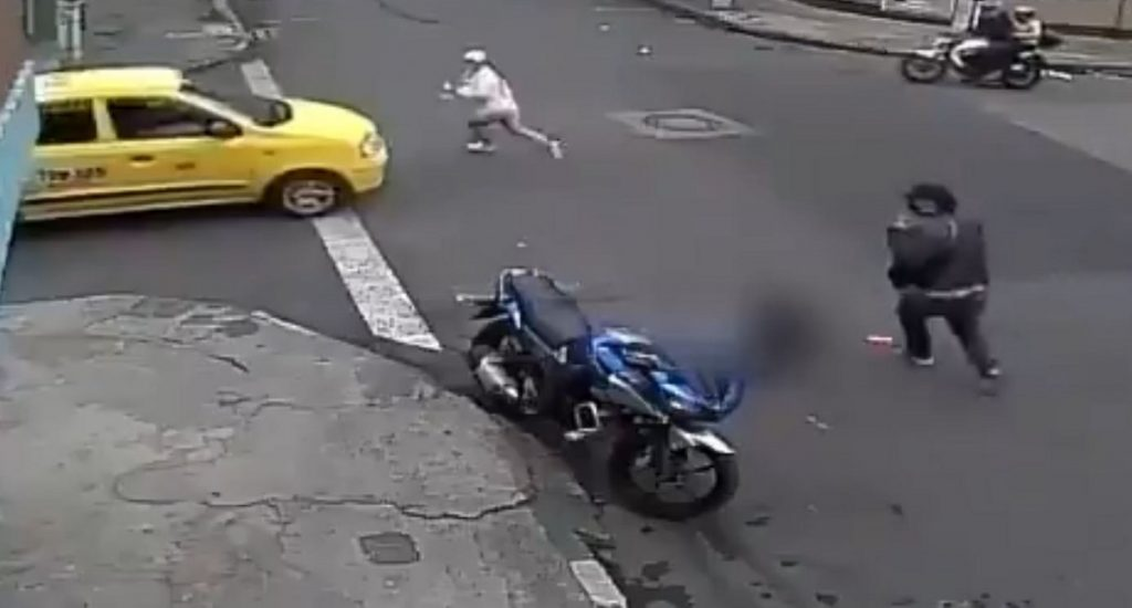 Intento de asesinato en Bogotá-captura video Twitter