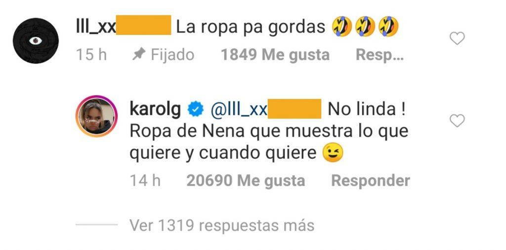 Captura de pantalla Instagram karolg.