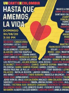 Imagen promocional del concierto, 'Un canto por Colombia'.