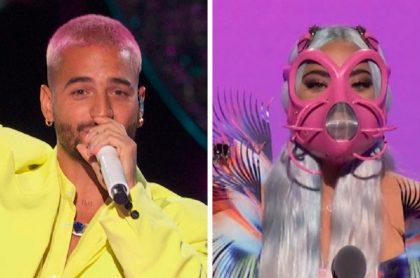 Maluma recibe el MTV VMA a mejor videoclip latino / Lady Gaga recibe uno de los 5 premios que obtuvo en los MTV VMA's 2020.