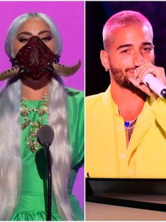 Lady Gaga y Maluma en los Premios MTV VMA's 2020, en onde cantaron y se llevaron premios a casa.