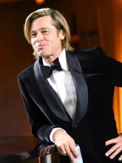 Brad Pitt, actor que sale con la modelo alemana Nicole Poturalski, que está casada.