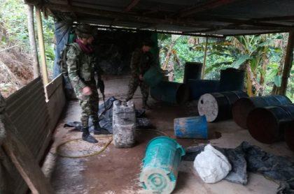 Militares en operativo en Sardinata, donde asesinaron a 4 soldados y un suboficial