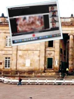 Imágen porno que apareció en debate virtual de la Cámara