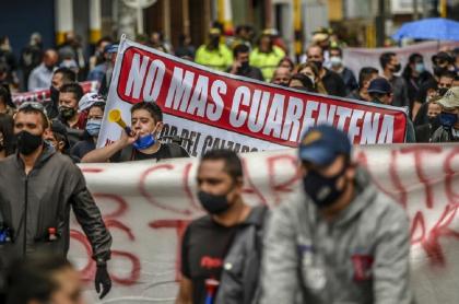 Protestas contra la cuarentena por la pandemia de COVID-19 en Bogotá