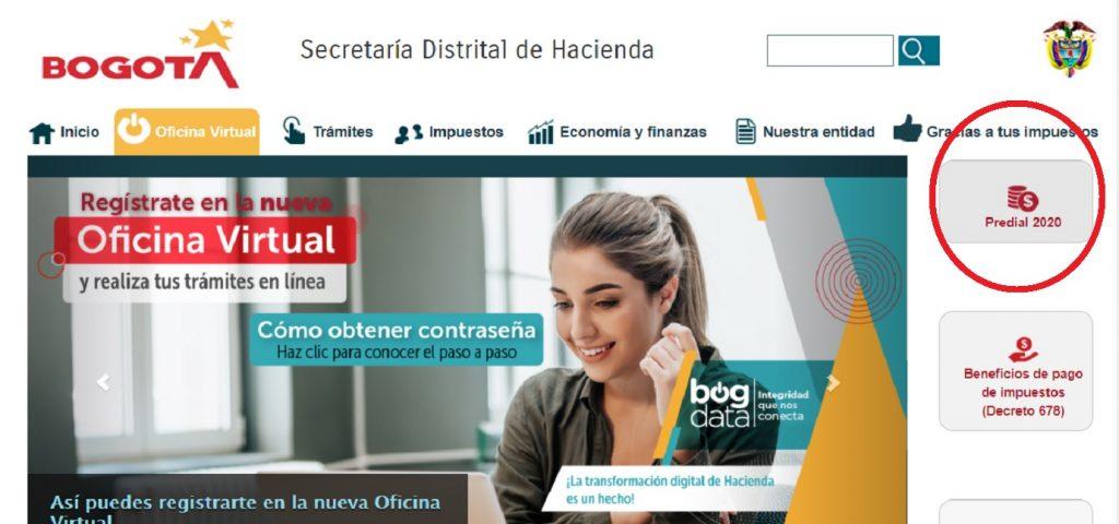 Secretaría de Hacienda pago de impuesto predial 2020