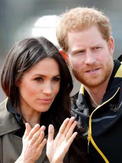 Foto de Meghan Markle y el príncipe Harry, a propósito de que compraron productora para trabajar con Netflix