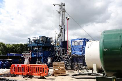 Instalación de fracking, a propósito de la eliminación de un artículo que autorizaba incentivos para usarlo en Colombia.