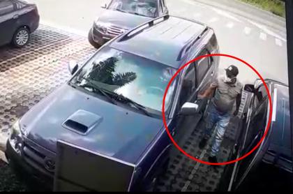 Imagen de ladrones de carros en Bogotá