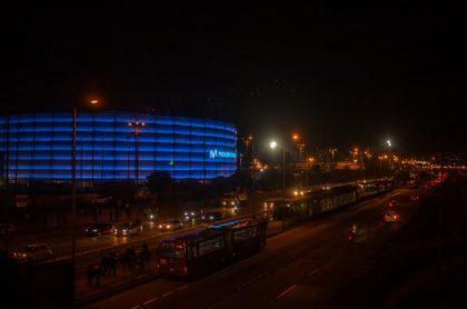 Vista general del Movistar Arena, en Bogotá, a propósito de su reapertura.