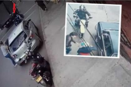 Imágenes de los dos robos cometidos desde motos en Bogotá
