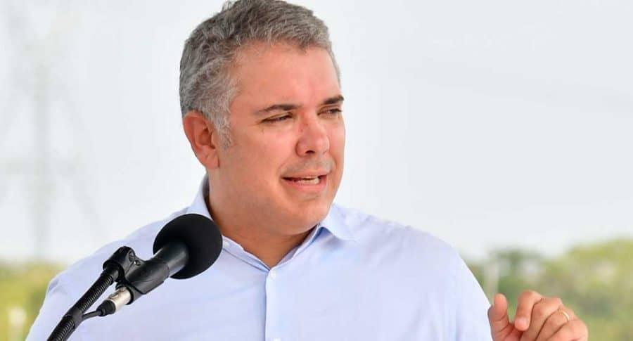 Iván Duque en evento en Norte de Santander, donde le critican que concentre poder del Estado.