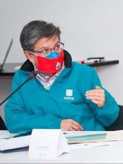 Claudia López, alcaldesa de Bogotá, en una foto de referencia, a propósito de sus cruces con el Gobierno.