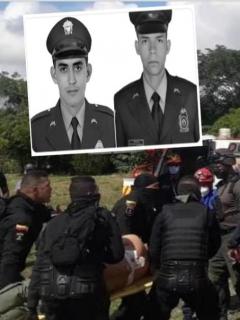 Patrulleros Jaime Castaño y Carlos Calderón, asesinados en Caucasia.