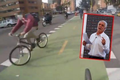 Ciclorruta por la carrera Séptima de Bogotá fue criticada por el exalcalde Enrique Peñalosa. (Fotomontaje de Pulzo).