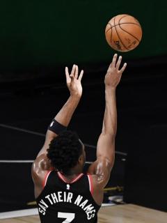 Toronto Raptors y Boston Celtics, tercer partido de las semifinales de conferencia de la NBA el 3 de septiembre del 2020